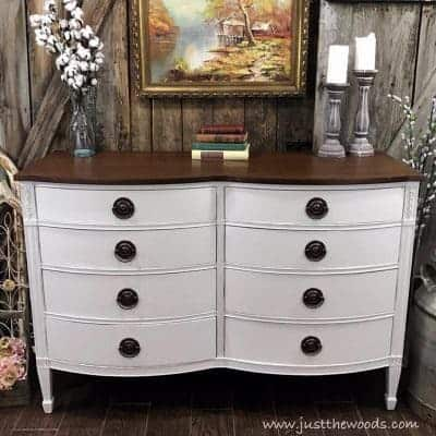 How to Get Farmhouse White Painted Furniture