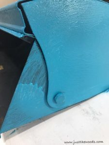 painted-blue-over-primer, how to paint metal