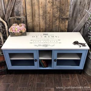 painted-media-console-with-image-transfer, painted media console, staten island