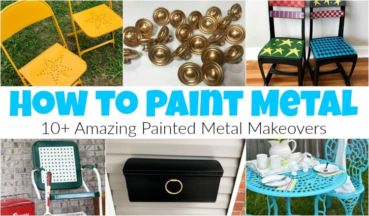 how to paint metal DIY