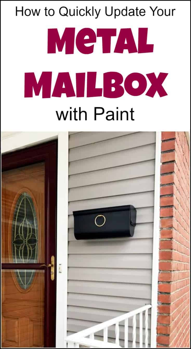 How to Quickly Update Your Metal Mailbox with Paint. How to prep and paint an old metal mailbox. Even rusted metal mailboxes can be revived. | paint mailbox | paint metal | mailbox paint | diy mailbox | painted mailbox ideas | painted mailbox | handpainted mailboxes | mailbox makeovers | mailbox makeover
