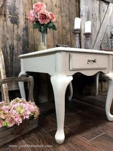 queen-anne-legs, chalk paint, painted tables, just the woods, shabby chic furniture