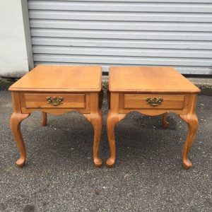Queen Anne Tables, Vintage End Tables, Painted Tables
