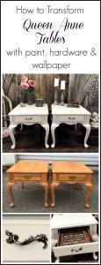 queen-anne-tables-transform, painted tables