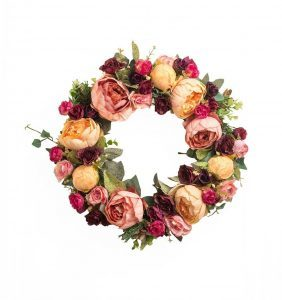 romantic-large-blooms-spring-wreath, floral blooms, spring wreaths, floral decor