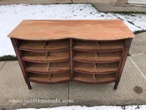 Sanded Dresser Top Vintage Furniture New York Painted How