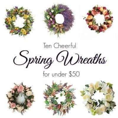 Ten Cheerful Spring Wreaths Under $50