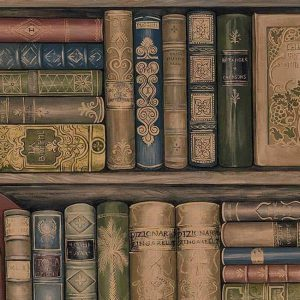 wallpaper-with-vintage-books
