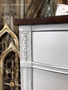 white-distressed-details, farmhouse style, painted dresser, distressed painted furniture