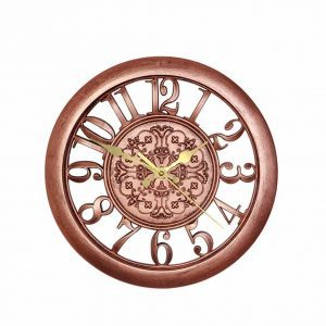 copper-wall-clock, copper decor, home accents