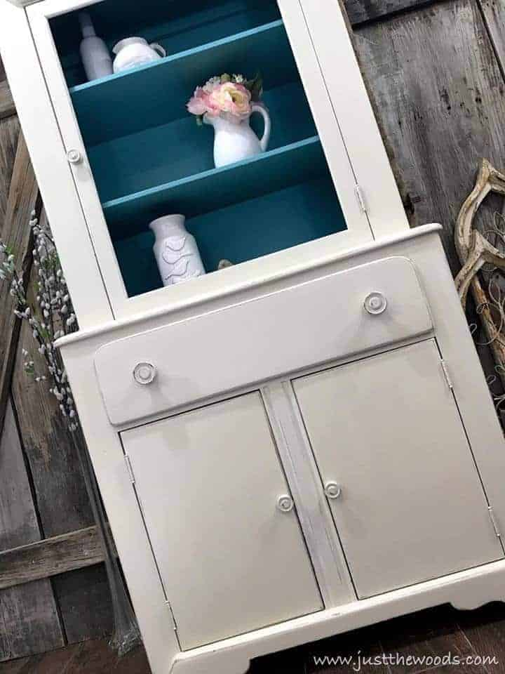 Shabby Chic Cabinet from an Old Worn Out Cupboard