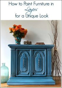 how-to-layer-paint, how to paint layers with chalk paint, vintage furniture
