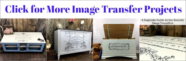 image transfers, image on painted furniture