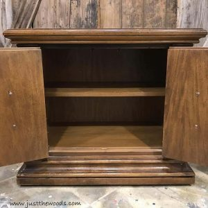 inside-cabinet-with-shelf, vintage accent piece