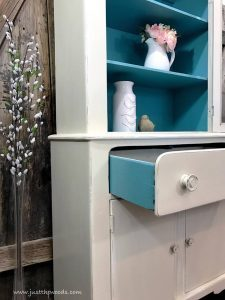 painted-drawer-sides, shabby chic cabinet, shabby chic, staten island, painted furniture
