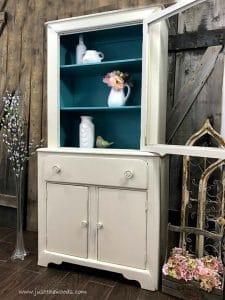 tall-cream-cabinet, shabby chic new york