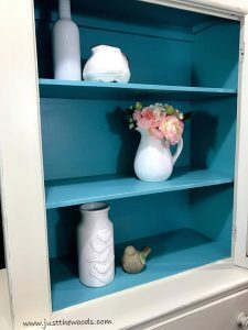 tiffany-blue-painted-cabinet, chalk painted furniture, non toxic paint