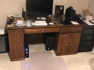 unfinished-desk, desk makeover, painted desk, vintage desk