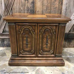 vintage-ornate-cabinet, vintage furniture, painted furniture