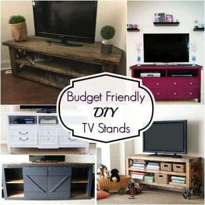 Budget Friendly DIY TV Stands