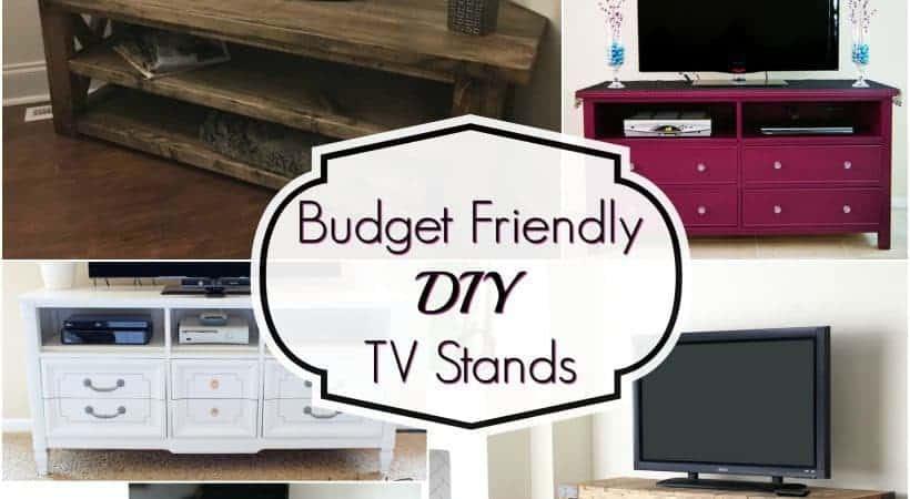 Budget Friendly DIY TV Stands