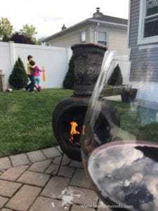 backyard-fire, chop down a tree, how to cut down a tree