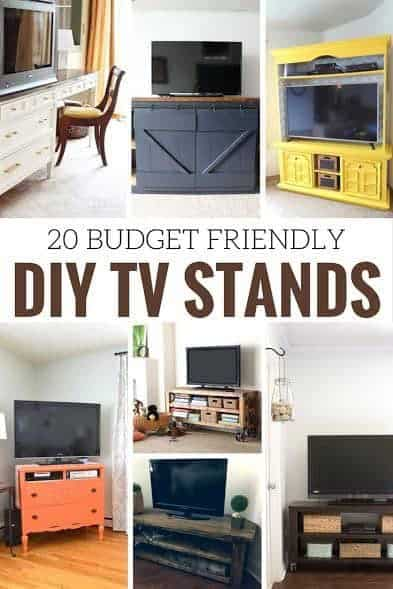 tv stands, tv console, media stand, media console, diy