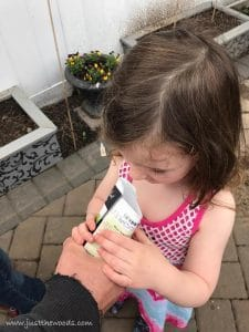 carrot-seels, gardening with kids
