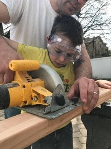 circular-saw, teach kids to use tools, diy kids, how to build a shed