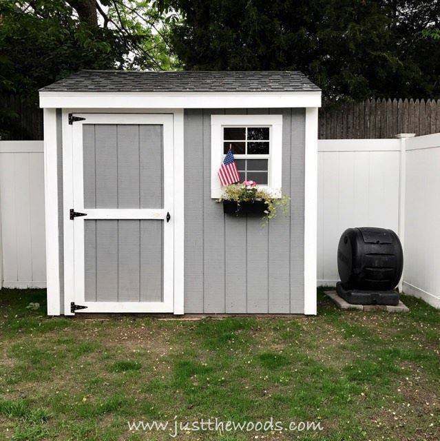 gray shed, how to build a shed, build a shed from scratch, diy