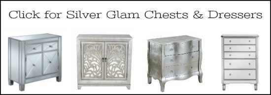 silver dressers, glamorous furniture, silver dresser