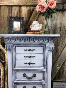 glazed-cloudy-details, staging furniture, how to stage furniture, furniture staging