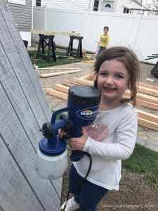 homeright-sprayer-kid, easy paint sprayer, diy with kids
