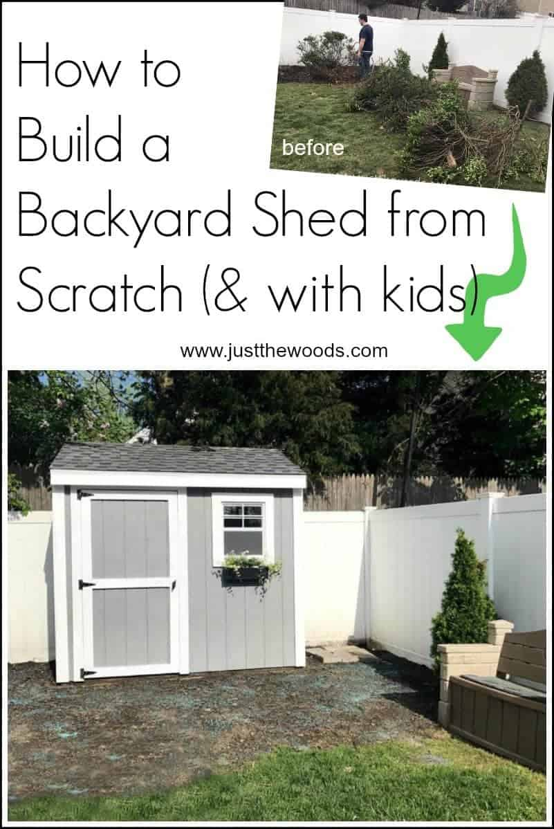 How to build a shed from scratch. Not only how to build a shed but how to do it with your spouse and your kids. Not an easy task. |how to build a shed | build a shed from scratch | build a shed with kids | how to build a storage shed, building a shed, how to build a shed roof, how to build a shed door, small storage shed, diy shed, shed designs, wooden sheds, shed foundation, yard sheds, backyard shed