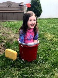 kid-in-bucket, gardening with kids