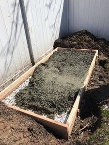 lay-concrete, pour concrete, build a shed, build with kids