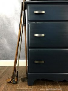 masculine-blue-furniture, golf clubs, vintage golf clubs, staging furniture