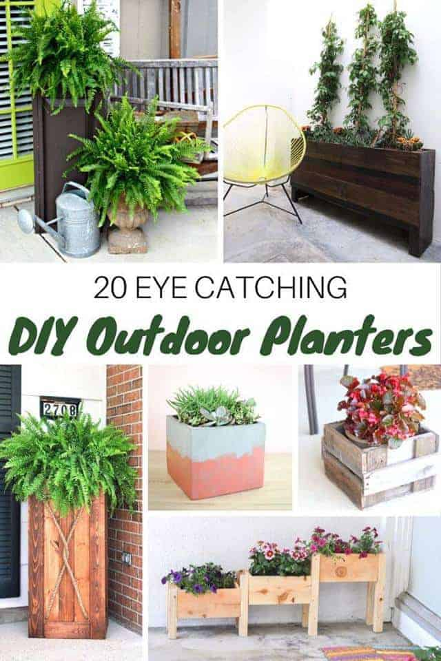 outdoor-planters, outdoor planter, DIY, easy planters, Simple backyard gardening, garden with kids, growing vegetables and raised garden beds in a small city backyard. 20 DIY outdoor planters. Outdoor planter, outside planters, outdoor plant containers, outdoor plant containers, outdoor garden pots, outdoor planter pots, outdoor plant pots, garden planters, outdoor pots and planters, decorative outdoor planters