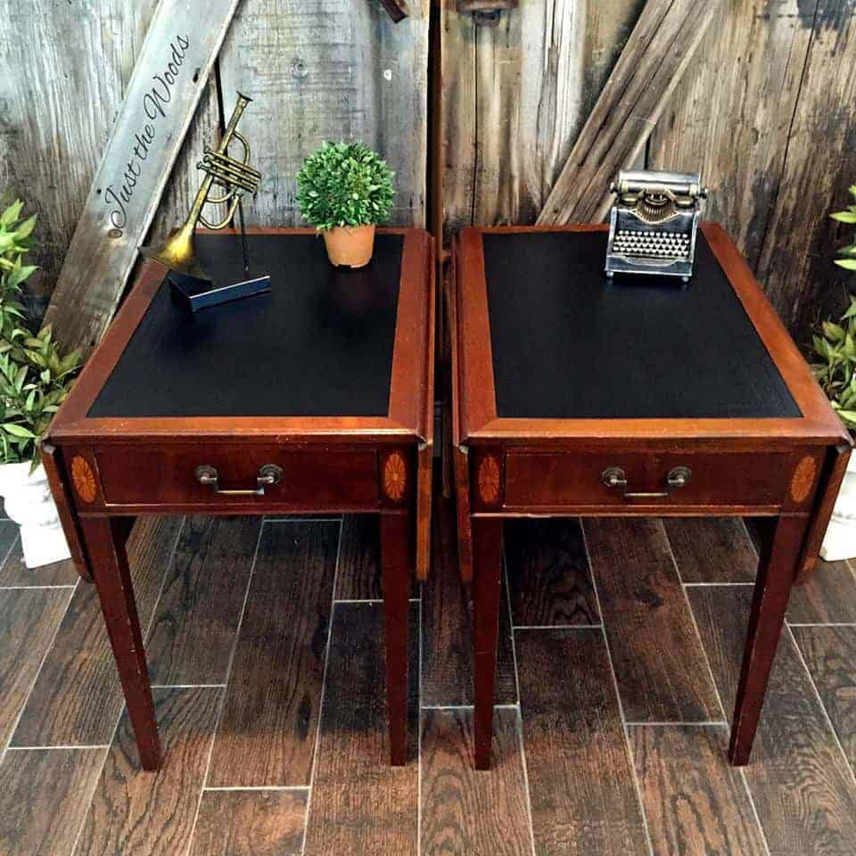 Paint Leather Painted Top Tables Inlay Furniture