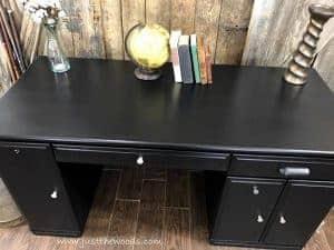 painted-desk-new-york, desk makeover, painted desk, painted furniture