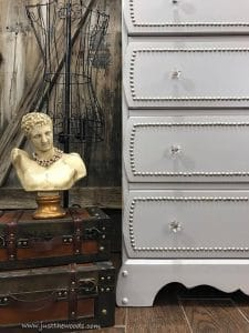 painted-dresser-with-crystal-knobs, staging furniture