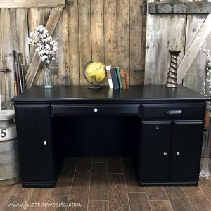 painted-furniture-nyc, painted desk, black desk, desk makeover