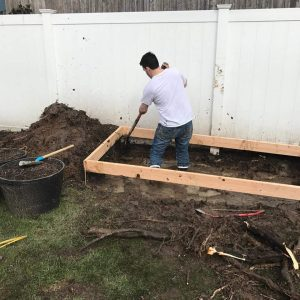place-frame, frame for concrete floor, build shed