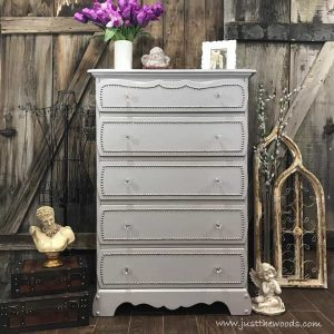 staten-island-painted-dresser-with-tacks, staten island, painted dresser, nailhead trim