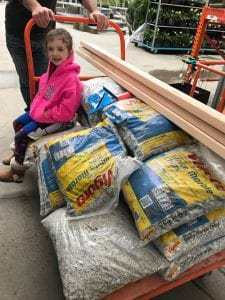 supplies-for-building-shed-floor, diy with kids