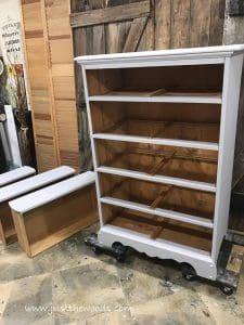 tahoe-gray, painted dresser, gray chalk paint, gray painted dresser