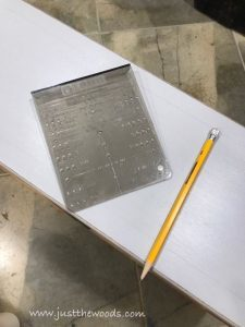 template-to-measure-where-to-mark, hardware template, cabinet template