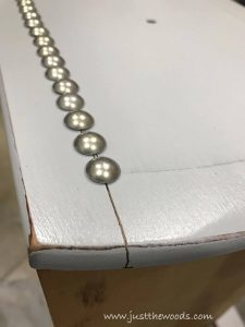 wood-split, problems using upholstery tacks on furniture