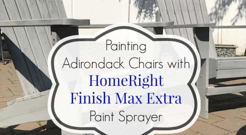 Just the Woods shows how to use the HomeRight Finish Max Extra to paint outdoor Adirondack chairs. The easiest and most affordable paint sprayer.