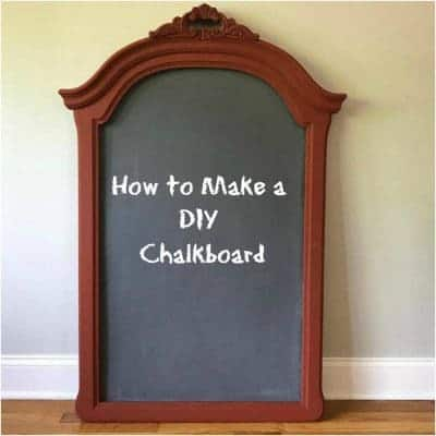 How to Make a DIY Chalkboard from an Old Frame
